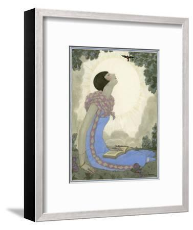 Vogue - May 1926-Georges Lepape-Framed Premium Giclee Print