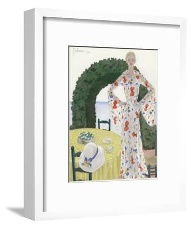 Vogue - July 1931-Georges Lepape-Framed Premium Giclee Print