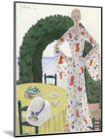 Vogue - July 1931-Georges Lepape-Mounted Premium Giclee Print