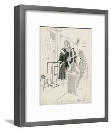 Vogue - October 1932-Jean Pag?s-Framed Premium Giclee Print
