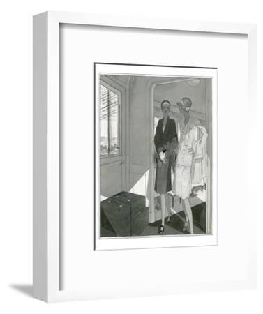 Vogue - June 1929-Jean Pag?s-Framed Premium Giclee Print