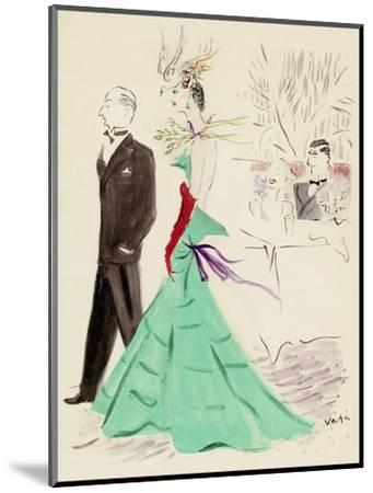 Vogue - March 1936-Marcel Vertes-Mounted Premium Giclee Print