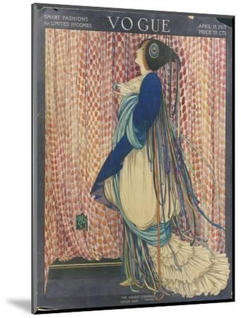 Vogue - March 1915-George Wolfe Plank-Mounted Premium Giclee Print