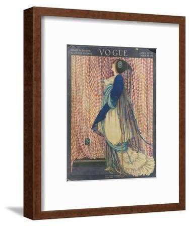 Vogue - March 1915-George Wolfe Plank-Framed Premium Giclee Print