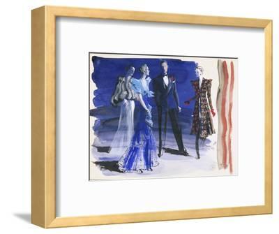 Vogue - June 1936-Ren? Bou?t-Willaumez-Framed Premium Giclee Print