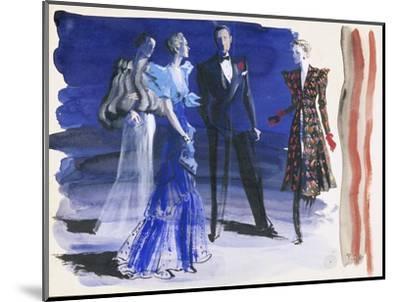 Vogue - June 1936-Ren? Bou?t-Willaumez-Mounted Premium Giclee Print