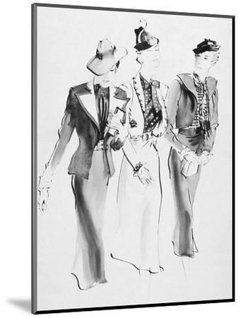 Vogue - February 1936-Ren? Bou?t-Willaumez-Mounted Premium Giclee Print