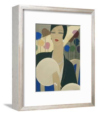 Vogue - March 1928-Harriet Meserole-Framed Premium Giclee Print