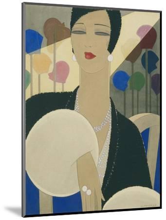 Vogue - March 1928-Harriet Meserole-Mounted Premium Giclee Print