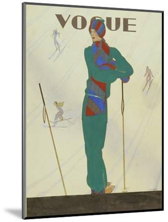 Vogue - December 1928-Pierre Pag?s-Mounted Premium Giclee Print