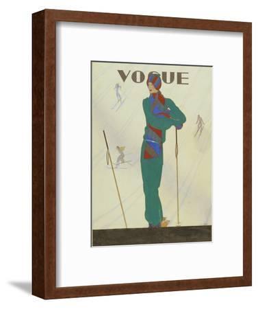 Vogue - December 1928-Pierre Pag?s-Framed Premium Giclee Print