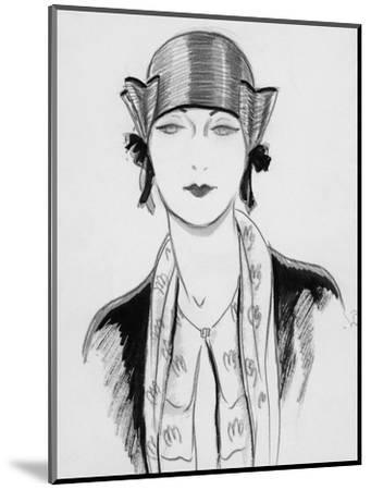 Vogue - March 1929-Porter Woodruff-Mounted Premium Giclee Print
