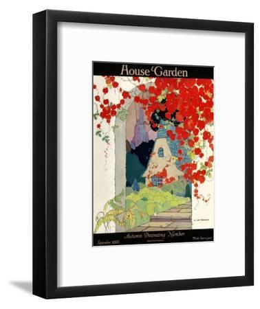 House & Garden Cover - September 1922-H. George Brandt-Framed Premium Giclee Print