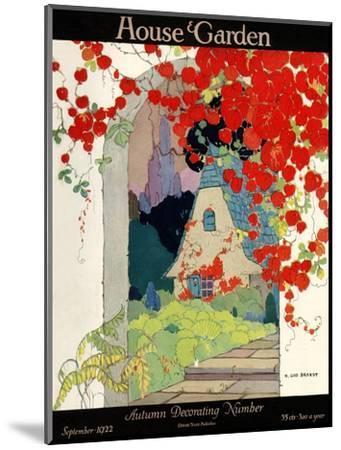 House & Garden Cover - September 1922-H. George Brandt-Mounted Premium Giclee Print