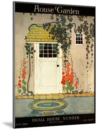 House & Garden Cover - July 1919-H. George Brandt-Mounted Premium Giclee Print
