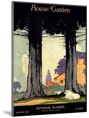 House & Garden Cover - August 1917-Charles Livingston Bull-Mounted Premium Giclee Print