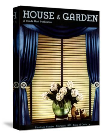 House & Garden Cover - February 1933-Anton Bruehl-Stretched Canvas Print