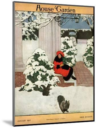 House & Garden Cover - January 1917-Ethel Franklin Betts Baines-Mounted Premium Giclee Print