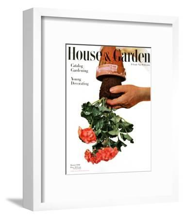 House & Garden Cover - January 1946-Haanel Cassidy-Framed Premium Giclee Print