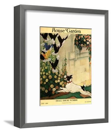 House & Garden Cover - July 1916-Charles Livingston Bull-Framed Premium Giclee Print