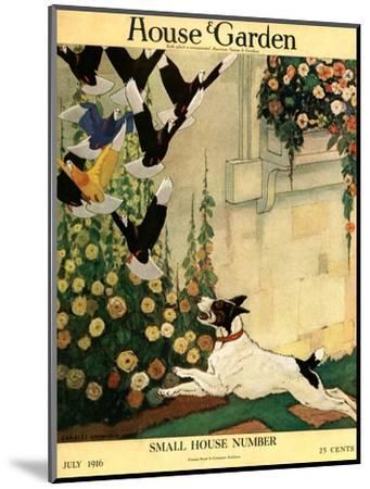 House & Garden Cover - July 1916-Charles Livingston Bull-Mounted Premium Giclee Print
