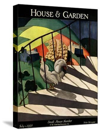 House & Garden Cover - July 1927-Bradley Walker Tomlin-Stretched Canvas Print