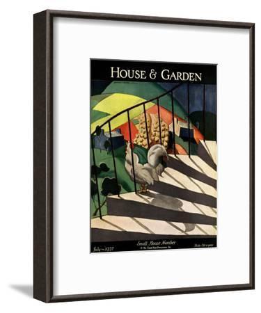 House & Garden Cover - July 1927-Bradley Walker Tomlin-Framed Premium Giclee Print