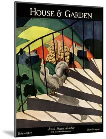 House & Garden Cover - July 1927-Bradley Walker Tomlin-Mounted Premium Giclee Print