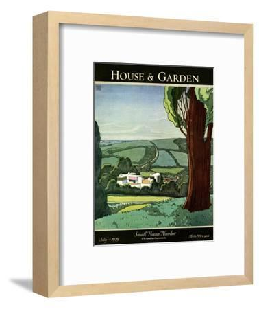 House & Garden Cover - July 1929-Harry Richardson-Framed Premium Giclee Print