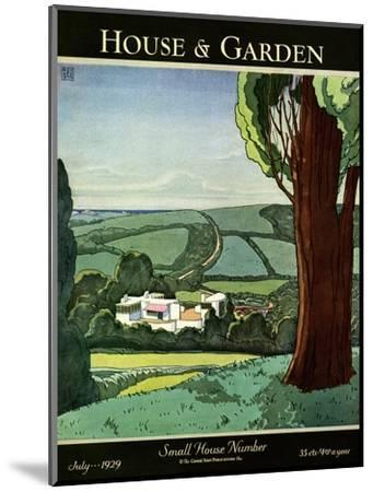 House & Garden Cover - July 1929-Harry Richardson-Mounted Premium Giclee Print