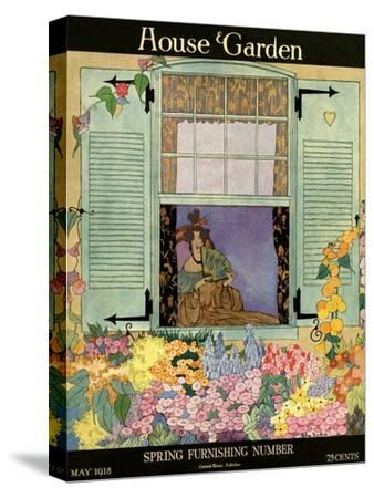 House & Garden Cover - May 1918-Helen Dryden-Stretched Canvas Print