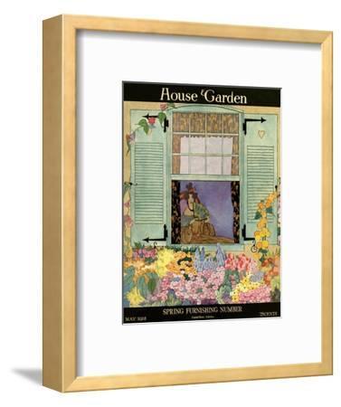 House & Garden Cover - May 1918-Helen Dryden-Framed Premium Giclee Print