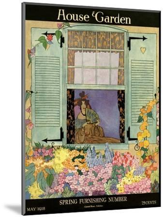 House & Garden Cover - May 1918-Helen Dryden-Mounted Premium Giclee Print