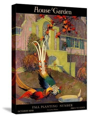 House & Garden Cover - October 1919-L. V. Carroll-Stretched Canvas Print