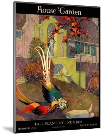 House & Garden Cover - October 1919-L. V. Carroll-Mounted Premium Giclee Print