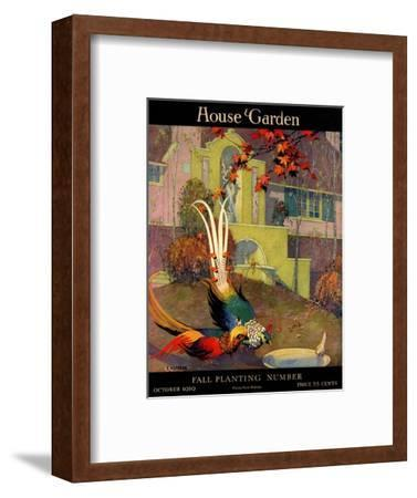 House & Garden Cover - October 1919-L. V. Carroll-Framed Premium Giclee Print