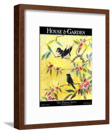House & Garden Cover - October 1924-Leah Ramsay-Framed Premium Giclee Print