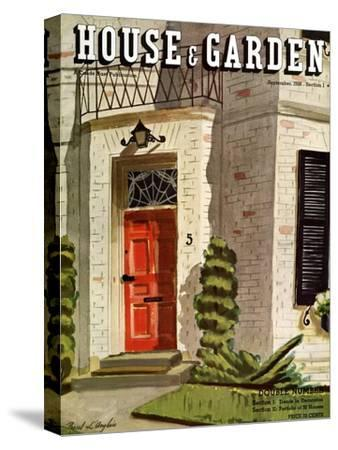 House & Garden Cover - September 1936-Pascal L'Anglais-Stretched Canvas Print