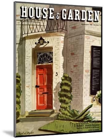 House & Garden Cover - September 1936-Pascal L'Anglais-Mounted Premium Giclee Print