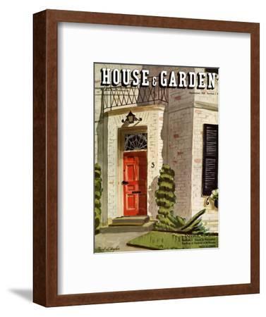 House & Garden Cover - September 1936-Pascal L'Anglais-Framed Premium Giclee Print