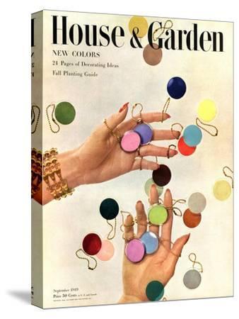 House & Garden Cover - September 1949-Herbert Matter-Stretched Canvas Print