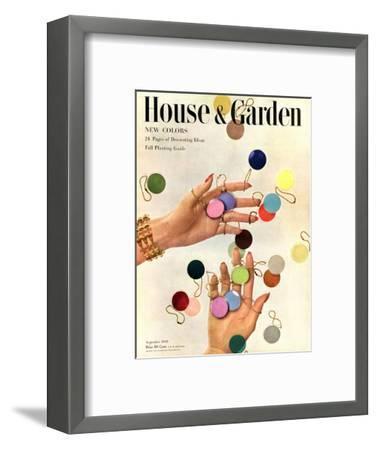 House & Garden Cover - September 1949-Herbert Matter-Framed Premium Giclee Print