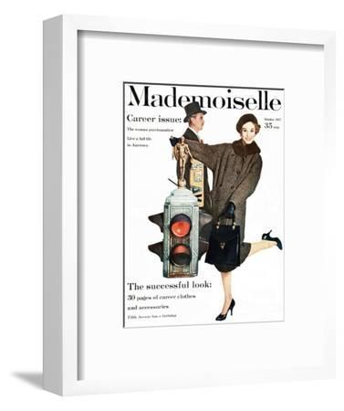 Mademoiselle Cover - October 1957-Stephen Colhoun-Framed Premium Giclee Print