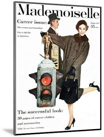 Mademoiselle Cover - October 1957-Stephen Colhoun-Mounted Premium Giclee Print
