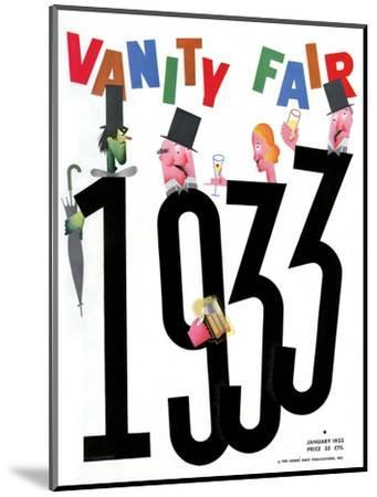 Vanity Fair Cover - January 1933-Frederick Chance-Mounted Premium Giclee Print