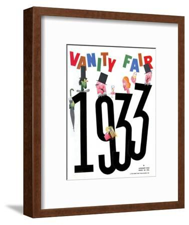 Vanity Fair Cover - January 1933-Frederick Chance-Framed Premium Giclee Print