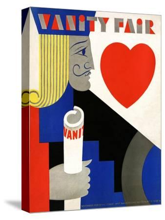 Vanity Fair Cover - November 1929-M. F. Agha-Stretched Canvas Print