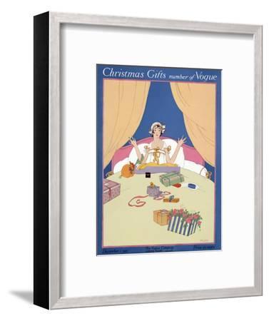Vogue Cover - December 1915-Robert McQuinn-Framed Premium Giclee Print