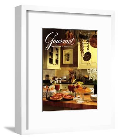 Gourmet Cover - April 1992-Romulo Yanes-Framed Premium Giclee Print