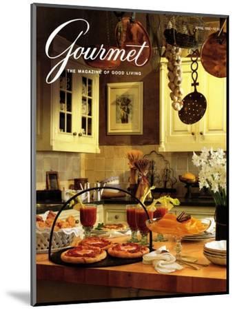 Gourmet Cover - April 1992-Romulo Yanes-Mounted Premium Giclee Print